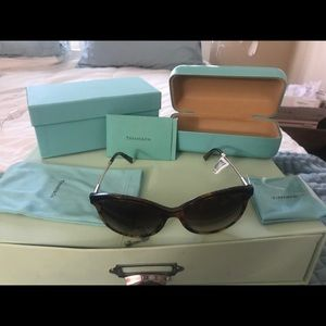 Tiffany's sunglasses and case set new with tags